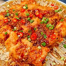 蒜蓉金针菇蒸鸡肉│鲜嫩多汁