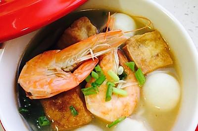 鲜虾鱼丸龙须面