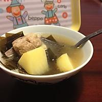 排骨海带汤的做法图解2