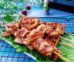 #精品菜谱挑战赛#家庭版+铁板烧鱿鱼串的做法