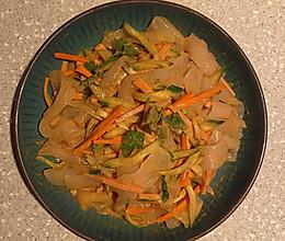 麻酱黄瓜拉皮的做法