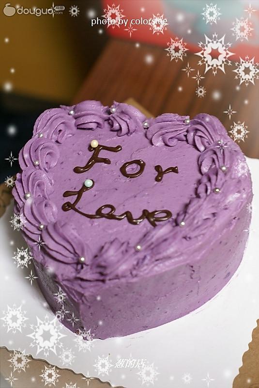 紫薯奶油海绵蛋糕的做法