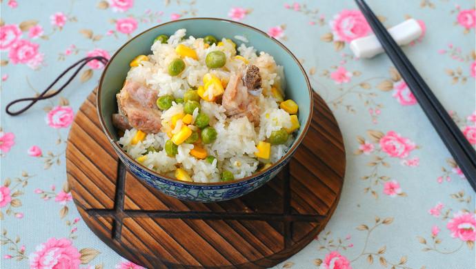 青豆玉米排骨饭
