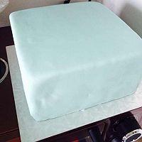 Tiffany礼物盒蛋糕的做法图解11