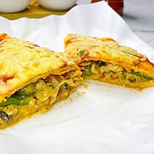#助力高考营养餐# 蔬菜芝士蛋饼,给孩子的营养早餐