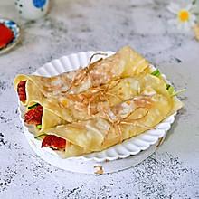 #肉食者联盟#片皮鸭卷饼