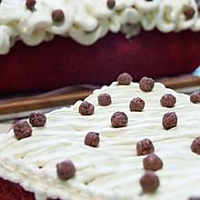 红曲板栗奶油蛋糕。