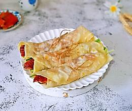 #肉食者联盟#片皮鸭卷饼的做法