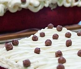 红曲板栗奶油蛋糕。的做法