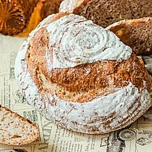 #硬核菜谱制作人# 法式酵种全麦田园面包(低糖无脂主食面包)
