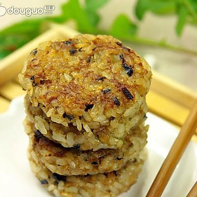 猪肉米饼——剩饭变身美味早餐