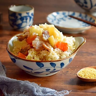 土豆腊肠焖饭,连吃两碗才过瘾