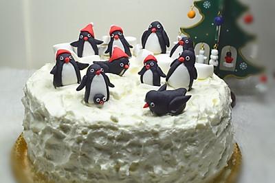 企鹅翻糖椰果蛋糕#九阳烘焙剧场#