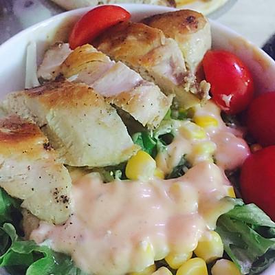减肥食谱--鸡胸沙拉