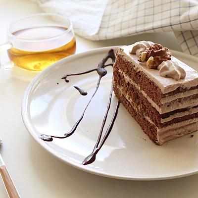 巧克力核桃香蕉蛋糕---九阳烤箱试用