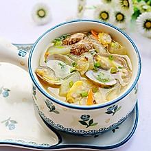 #晒出你的团圆大餐#冬瓜花蛤汤