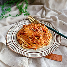 #钟于经典传统味#海鲜肉酱意大利面
