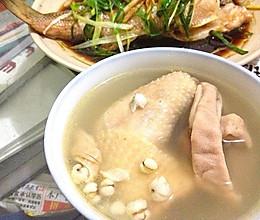 猪肚煲母鸡的做法