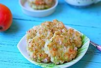 香煎蔬菜虾仁饼的做法