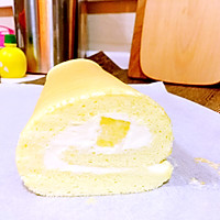 奶油菠萝蛋糕卷的做法图解18