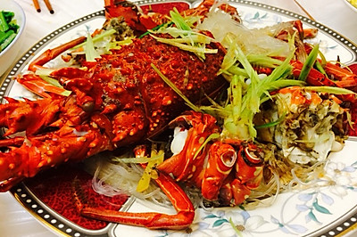 蒜蓉油淋龙虾