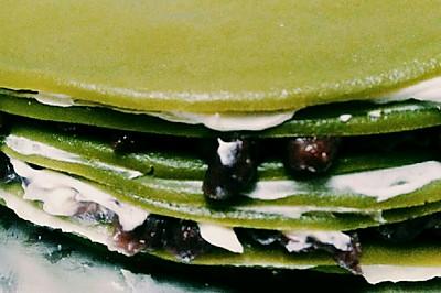 红豆抹茶千层蛋糕