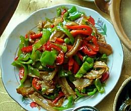 青椒炒卤牛肚的做法