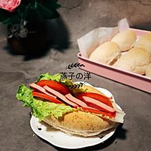 #520,美食撩动TA的心!#黑全麦牛奶热狗面包