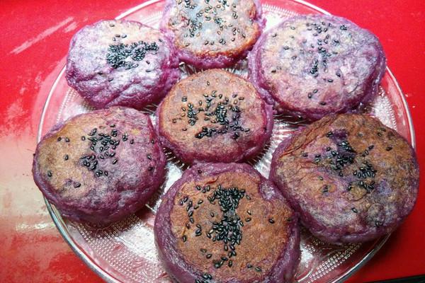 香糯紫薯饼的做法