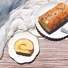#春季减肥,边吃边瘦#香葱肉松蛋糕卷