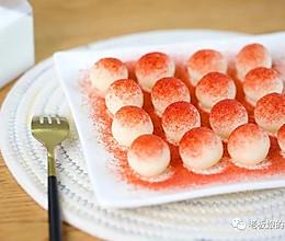 樱花奶香球 | 高颜值免烤小甜点,简单易上手,味道还超正点~的做法