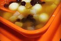 红豆圆子水果羹的做法