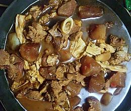 萝卜腐竹炖羊煲的做法