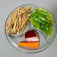 【孕妇食谱】腊肉炒茶树菇,香味扑鼻,味道鲜美超下饭~的做法图解3