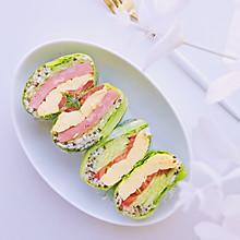 #美食新势力#减脂早餐—生菜包饭卷