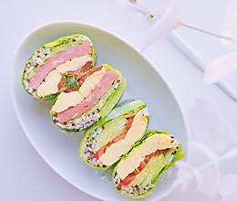 #美食新势力#减脂早餐—生菜包饭卷的做法