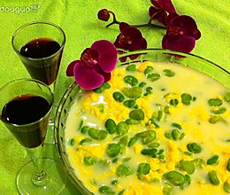 牛奶蛋花蚕豆瓣的做法