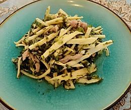 雪菜肉丝炒冬笋的做法