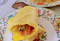 #换着花样吃早餐#粗粮卷饼的做法