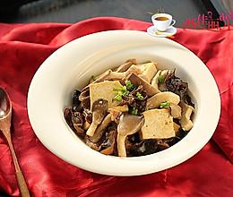 平菇肉片炒豆腐的做法