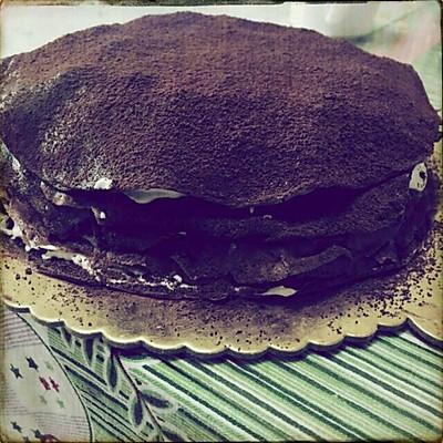 超美味可可红豆千层蛋糕