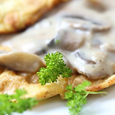 曼步厨房 - 舒芙蕾蘑菇蛋饼