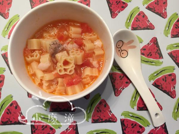 番茄鳕鱼卡通面的做法
