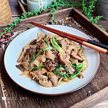 #肉食者联盟#家常蘑菇炒肉