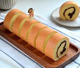 """#美食说出""""新年好""""#红豆沙戚风蛋糕卷的做法"""
