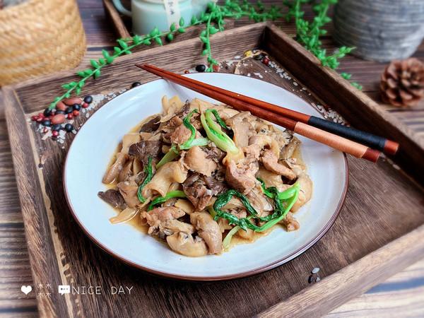 #肉食者联盟#家常蘑菇炒肉的做法