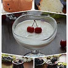 葡萄干枸杞吐司+桑葚果酱+低糖酸奶