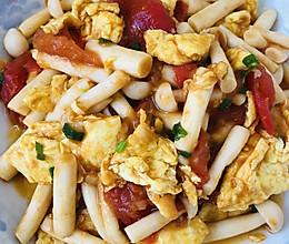 番茄海鲜菇炒鸡蛋的做法