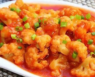 蕃茄炒花菜