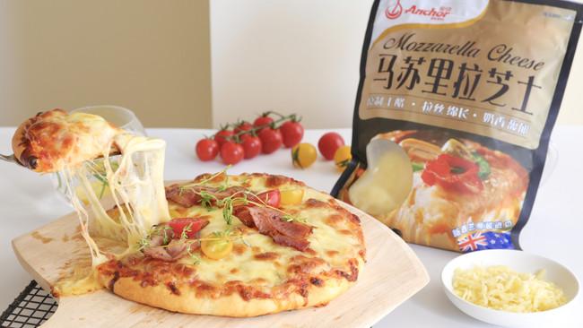 超厚芝士培根披萨的做法